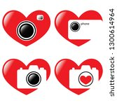 vector illustration. hearts and ... | Shutterstock .eps vector #1300614964