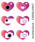 vector illustration. hearts and ... | Shutterstock .eps vector #1300614967