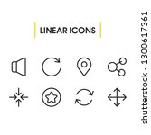 web icons set with rotate ...