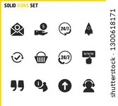 service icons set with end of...