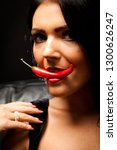 red hot chilli pepper | Shutterstock . vector #1300626247