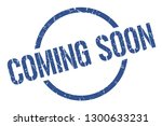 coming soon blue round stamp | Shutterstock .eps vector #1300633231