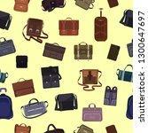 man bag vector manlike fashion... | Shutterstock .eps vector #1300647697
