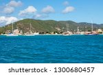 the tropical island on the... | Shutterstock . vector #1300680457