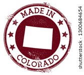 made in colorado stamp. grunge... | Shutterstock .eps vector #1300684654