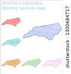 north carolina sketchy us state.... | Shutterstock .eps vector #1300684717