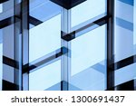 transparent glass wall with... | Shutterstock . vector #1300691437