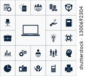 vector set of business icons.... | Shutterstock .eps vector #1300692304