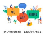 join our team  we are hiring... | Shutterstock .eps vector #1300697581