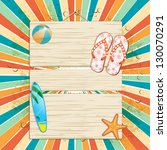 summer sign with flip flops ... | Shutterstock .eps vector #130070291