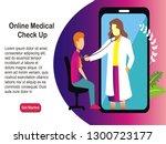 online medical check up...   Shutterstock .eps vector #1300723177