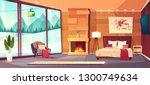 vector cartoon interior of... | Shutterstock .eps vector #1300749634
