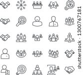 thin line icon set   handshake... | Shutterstock .eps vector #1300767181