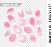 falling pink rose petals... | Shutterstock .eps vector #1300783357