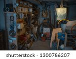 old village workshop room with... | Shutterstock . vector #1300786207