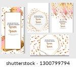 wedding invitation frame set.... | Shutterstock .eps vector #1300799794