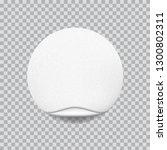 round white sticker with paper... | Shutterstock .eps vector #1300802311