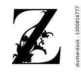 capital letter z. capital... | Shutterstock .eps vector #1300816777