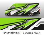 car decal van designs . wrap... | Shutterstock .eps vector #1300817614