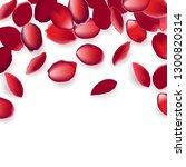 falling red rose petals... | Shutterstock .eps vector #1300820314