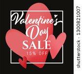 valentine's day sale 15 off ... | Shutterstock .eps vector #1300821007