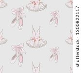 ballet seamless pattern with... | Shutterstock .eps vector #1300822117