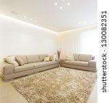 luxury modern living room this... | Shutterstock . vector #130082351