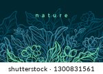 vector floral background.... | Shutterstock .eps vector #1300831561