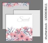 wedding invitation set.... | Shutterstock .eps vector #1300838611