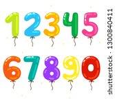 cartoon ballon numbers for...   Shutterstock .eps vector #1300840411