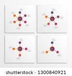 set of infographic templates... | Shutterstock .eps vector #1300840921