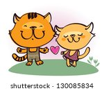 cats love | Shutterstock .eps vector #130085834