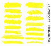 hand drawn yellow highlight... | Shutterstock .eps vector #1300862437