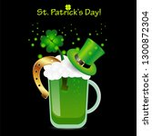 saint patrick's day poster with ... | Shutterstock . vector #1300872304