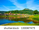 landscape on the river elbe ... | Shutterstock . vector #130087475
