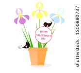 happy valentine's day banner.... | Shutterstock .eps vector #1300880737