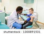 african american doctor... | Shutterstock . vector #1300891531
