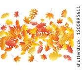 oak  maple  wild ash rowan... | Shutterstock .eps vector #1300895611