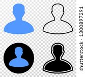 person eps vector pictograph... | Shutterstock .eps vector #1300897291