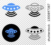 ufo eps vector pictograph with... | Shutterstock .eps vector #1300897387
