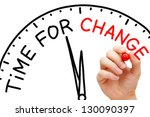 hand writing time for change... | Shutterstock . vector #130090397