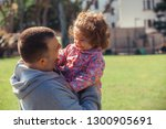 father with the baby | Shutterstock . vector #1300905691