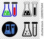 chemical glassware eps vector... | Shutterstock .eps vector #1300907644