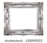 vintage picture frame isolated... | Shutterstock . vector #130090925