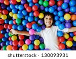 happy children playing and... | Shutterstock . vector #130093931