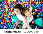 little smiling boy playing... | Shutterstock . vector #130093949
