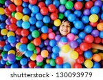 happy children playing and... | Shutterstock . vector #130093979