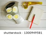 counting the amount of protein  ... | Shutterstock . vector #1300949581