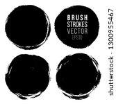 vector set of hand painted...   Shutterstock .eps vector #1300955467