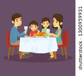 happy families are dinner in... | Shutterstock .eps vector #1300959931